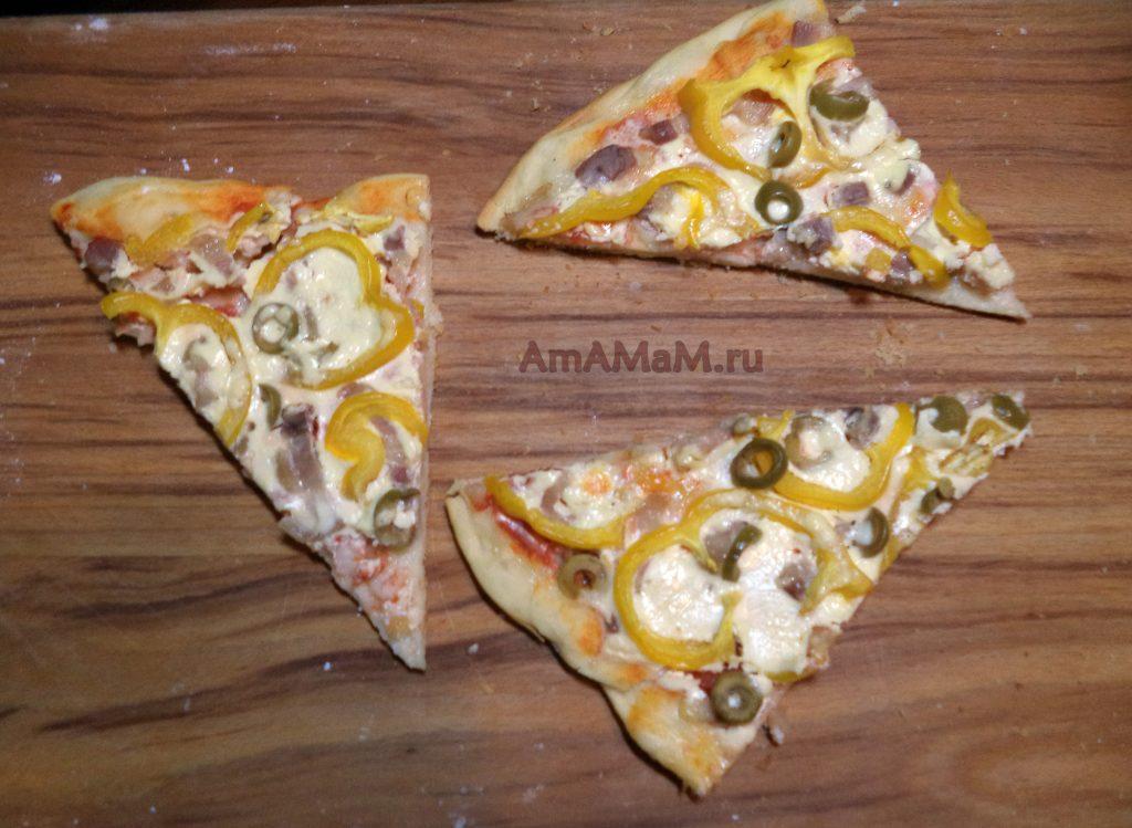 Приготовление пиццы без сыра - рецепт с фото