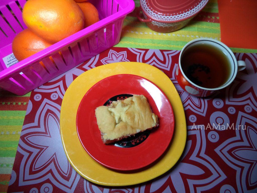 Пироги с вареньем - постный рецепт на дрожжевом тесте