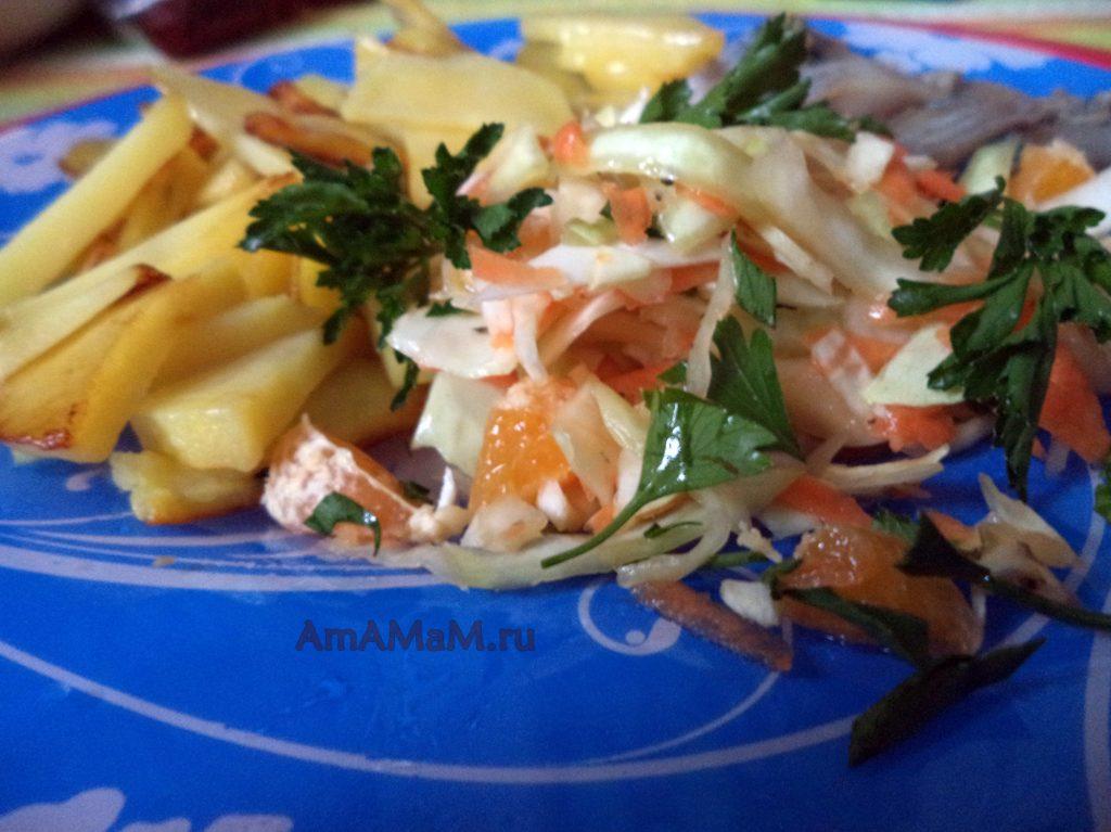 Жареный картофель с капустой и селедкой - рецепт ужина на скорую руку