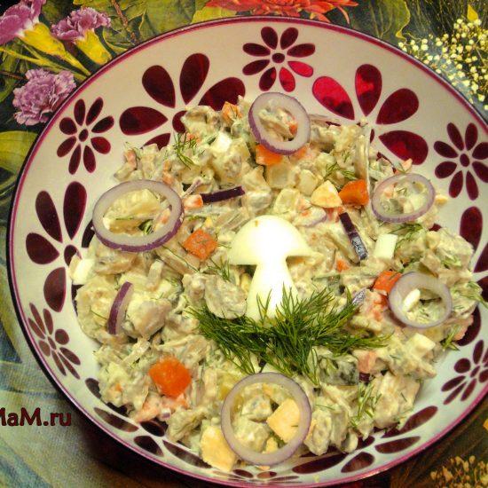 Искусство оформления салатов фото