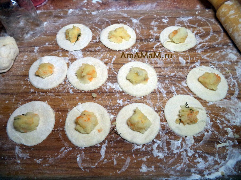 Рецепт картофельным вареников и фото