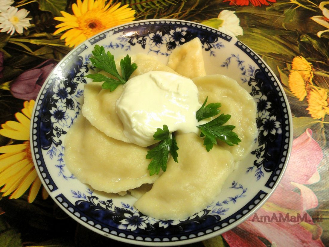Фото пошаговый рецепт вареники