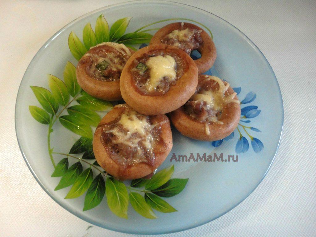 Вкусные баранки с фаршем - оригинальное мясное блюдо