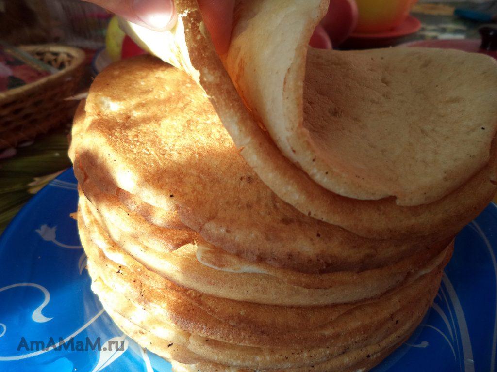Как делают толстые кислые блины на закваске - рецепт с пошаговыми фото