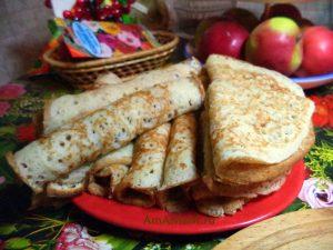 Блины на хлебной закваске с начинкой