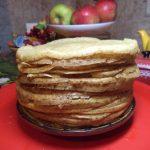 Стопка блинов - рецепт на закваске для хлеба