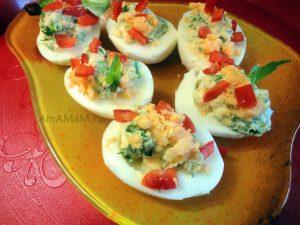 Рецепт фаршированных яиц с зеленью