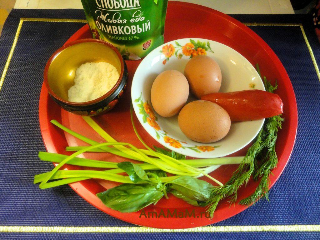 Яйца с начинкой - рецепт простой закуски