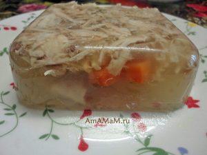 Рецепт и фото холодца с желатином из куриных бедрышек
