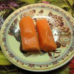 Заливное куриное - холодец с желатином, моркоька для украшения