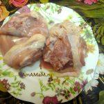 Мясо для холодца - куриные бедрышки