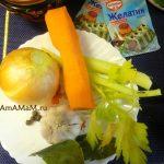 Овощи, коренья и пряности для варки холодца - фото и рецепт