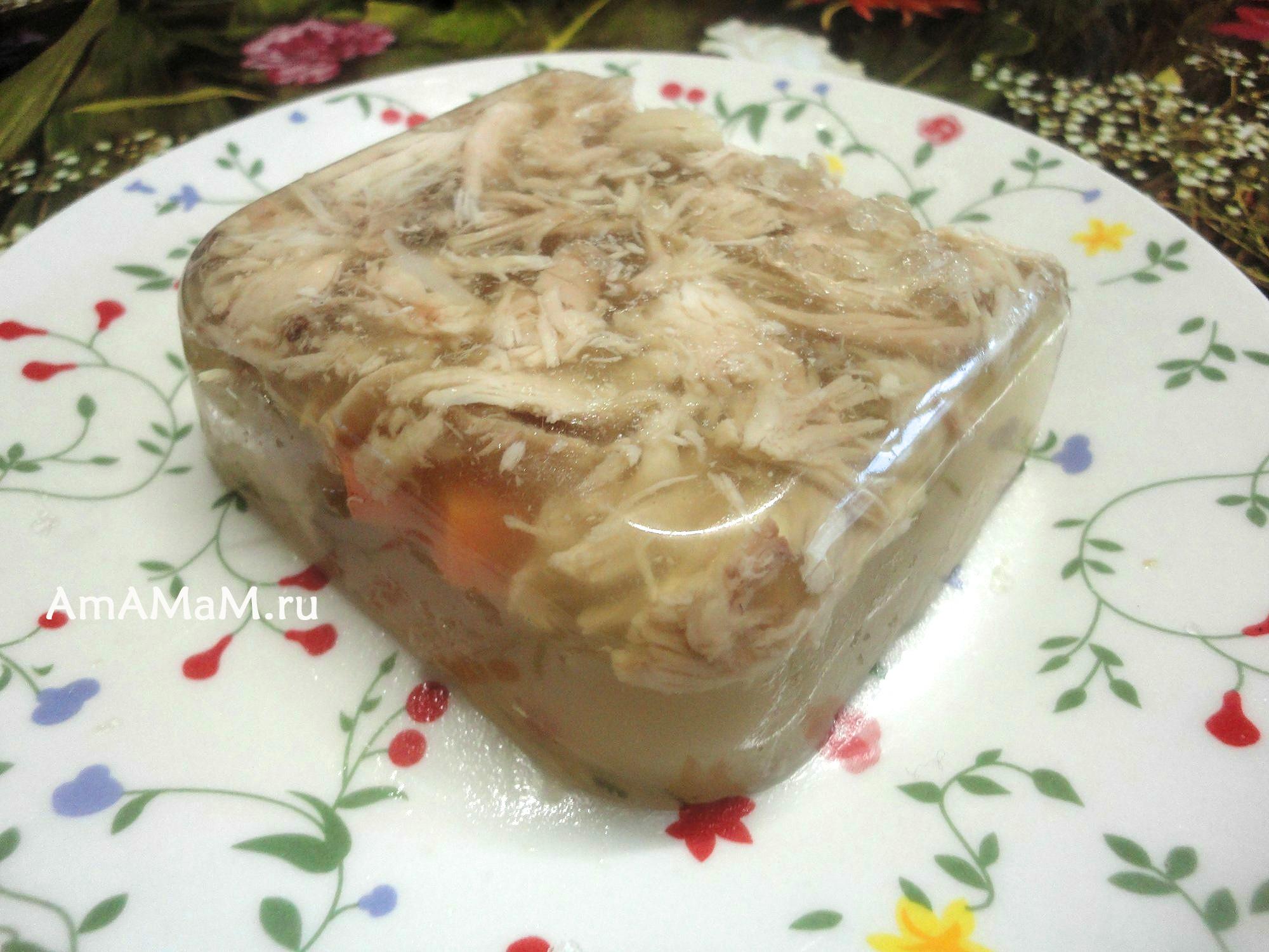 Вкусный куриный холодец с желатином рецепт пошагово