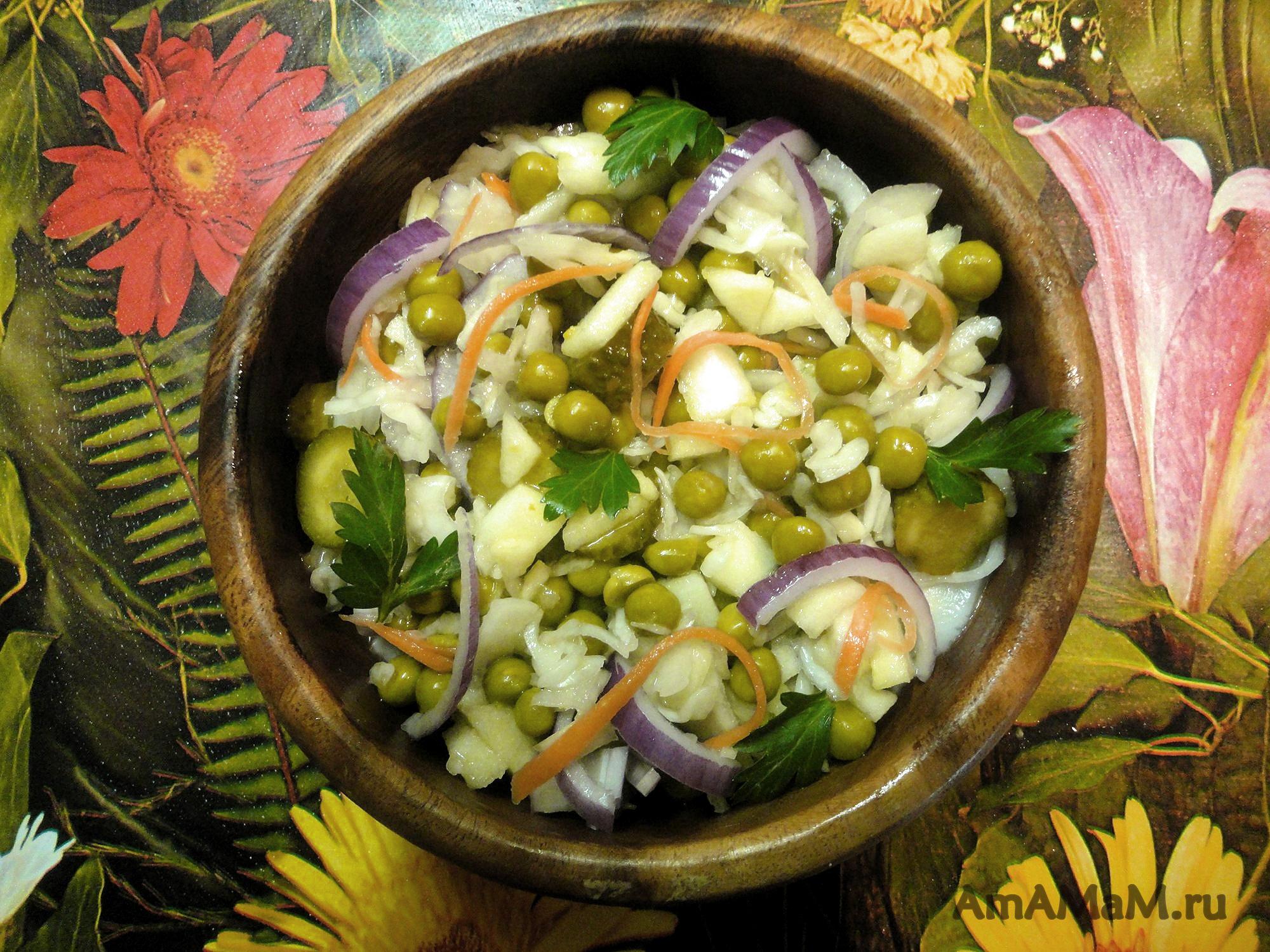 Яблоко огурец капуста салат