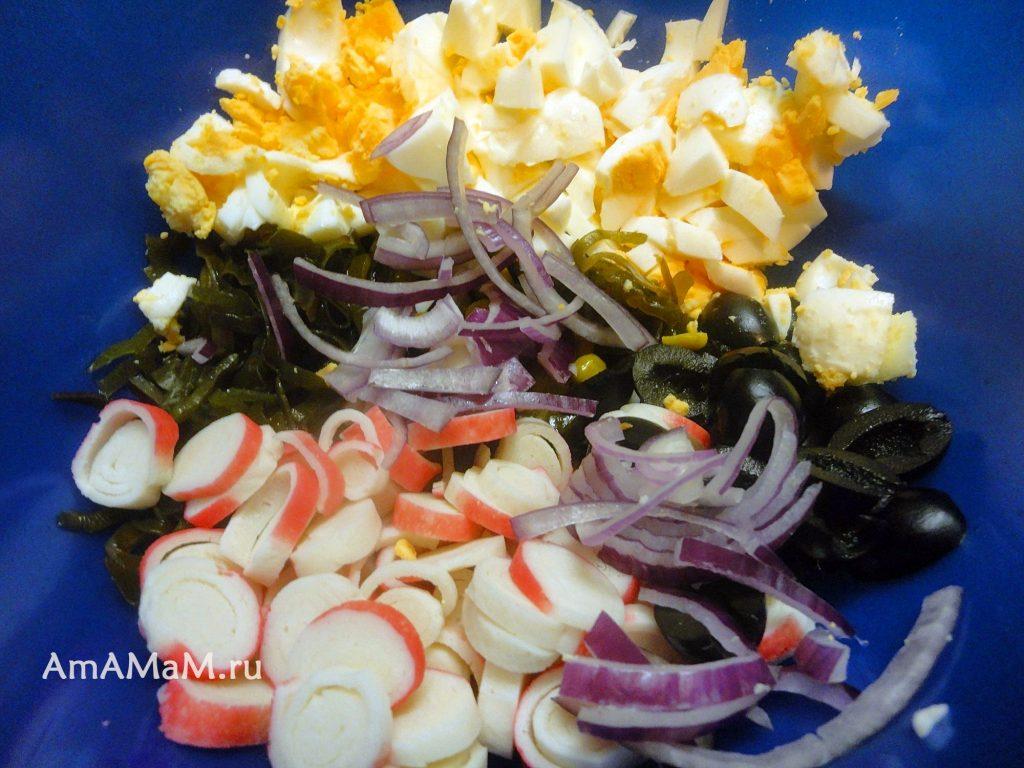 Рецепт и способ приготовление салата из морской капусты