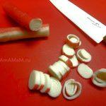 Нарезка крабовых палочек колечками - фото и рецепт с алата