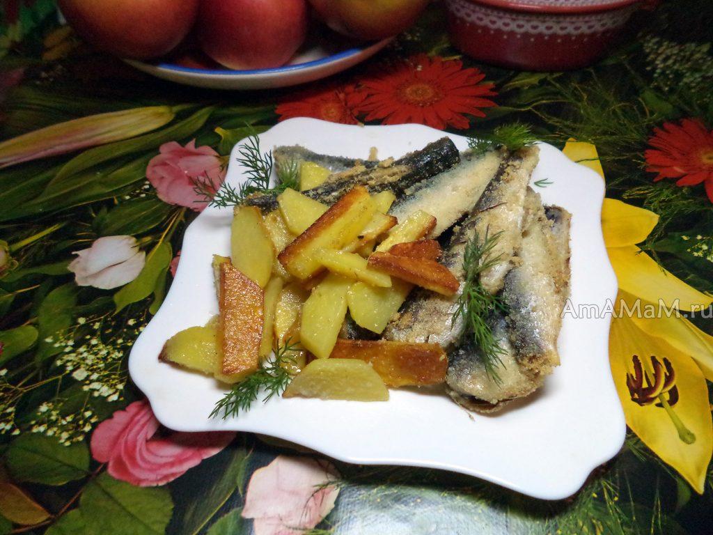 Что быстро приготовить на ужин - жареный наутилус- рыбка с картошкой