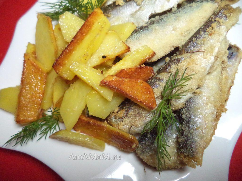 Дешевый ужин с рыбкой - наутилус и картошка