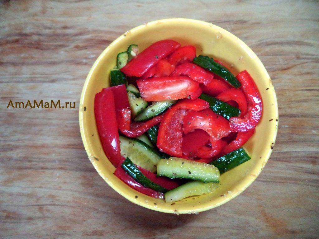 Овощи малосольные - нарезать и потрясти!