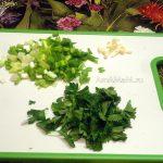 Зеленый лук, петрушка и чеснок