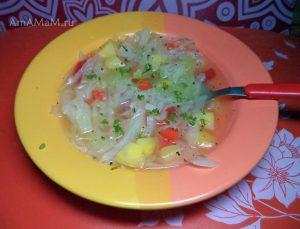 Рецепт щей без лука и без предварительной зажарки овощей
