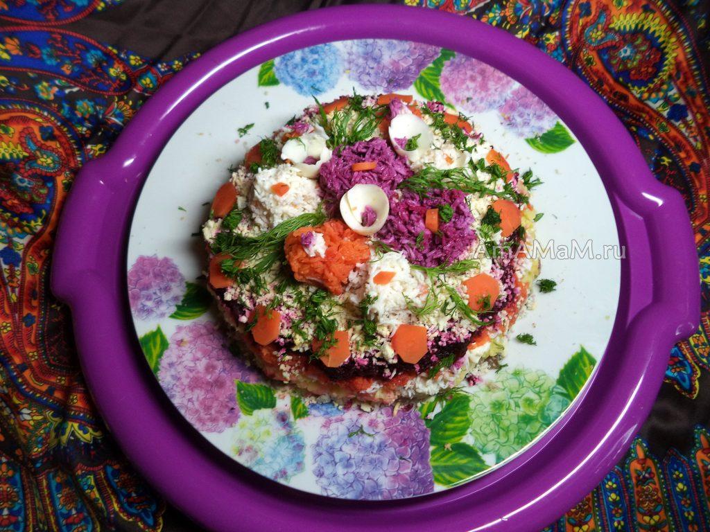 Вкусная селедка под шубой - подробные фото приготовления салата