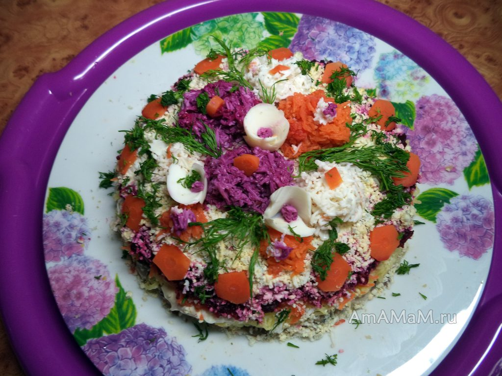 Украшение салатов - как делать
