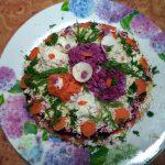 Как украсить селедку под шубой цветами - фото и рецепт