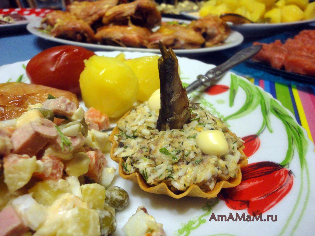 Что приготовить на праздник - салат в тарталетках