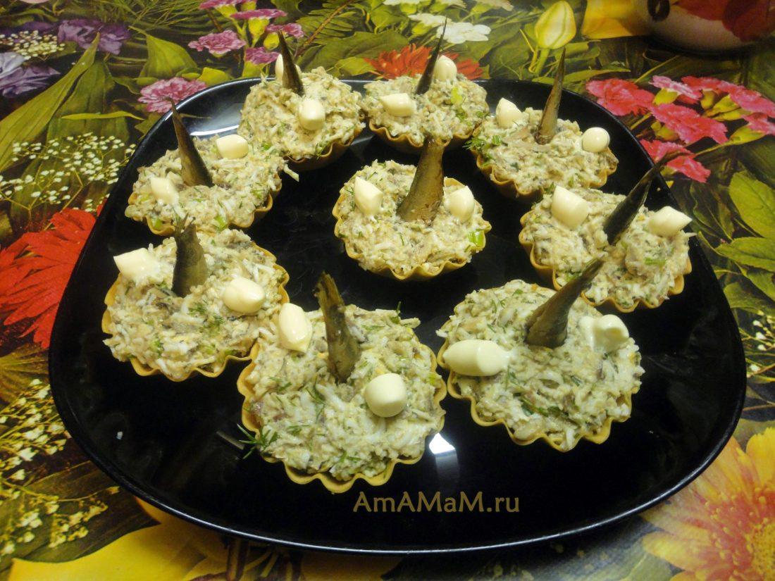 Рецепты тарталетки со шпротами