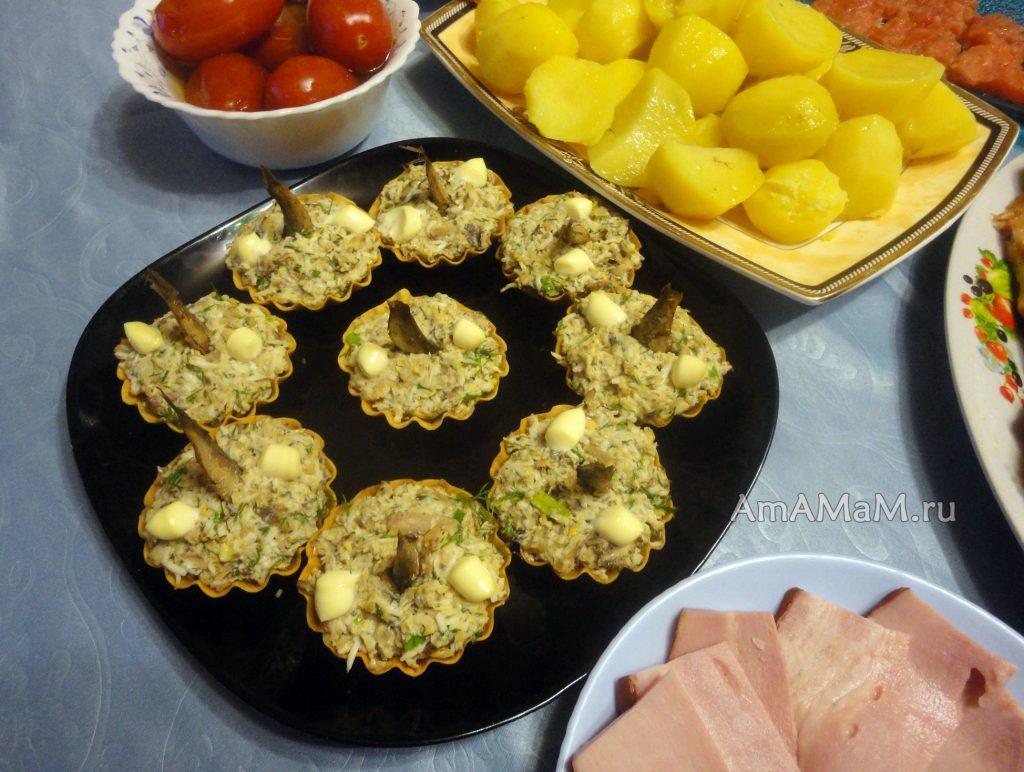 Тарталетки с рыбкой- рецепт салата