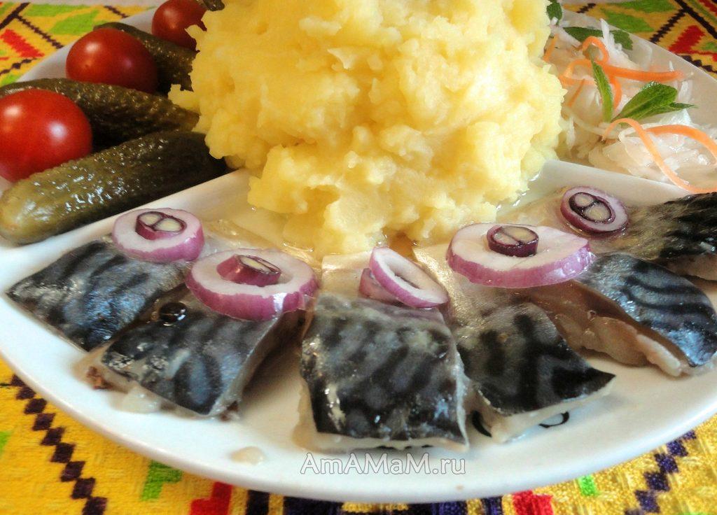 Рецепт скумбрии пряного посола. Вкусная слабосоленая 3