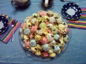 Торт-безе без выпечки из покупного безе )меренг)