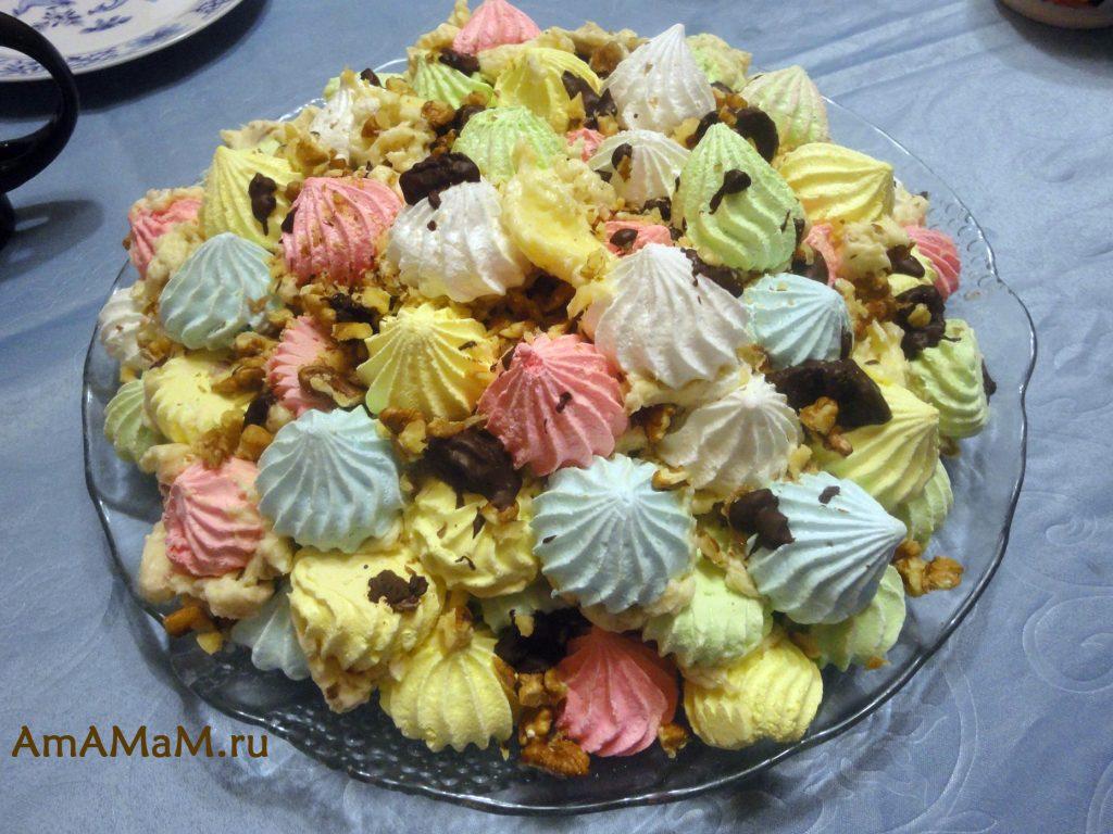 Рецетп вкусного праздничного торта без особых усилий - безе с кремом