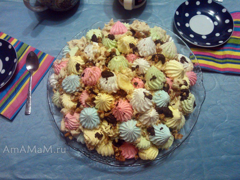 Простой праздничный торт безе - рецепт с фото