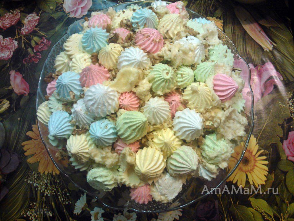 Как выглядит торт Графские развалины из покупного безе