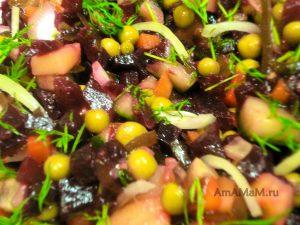 Салаты с морской капустой - винегрет, рецепт с фото