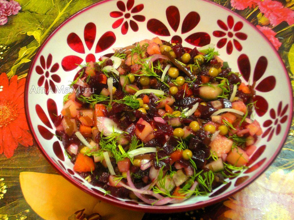 Приготовление салата с морской капустой без квашеной капусты и соленых огурцов