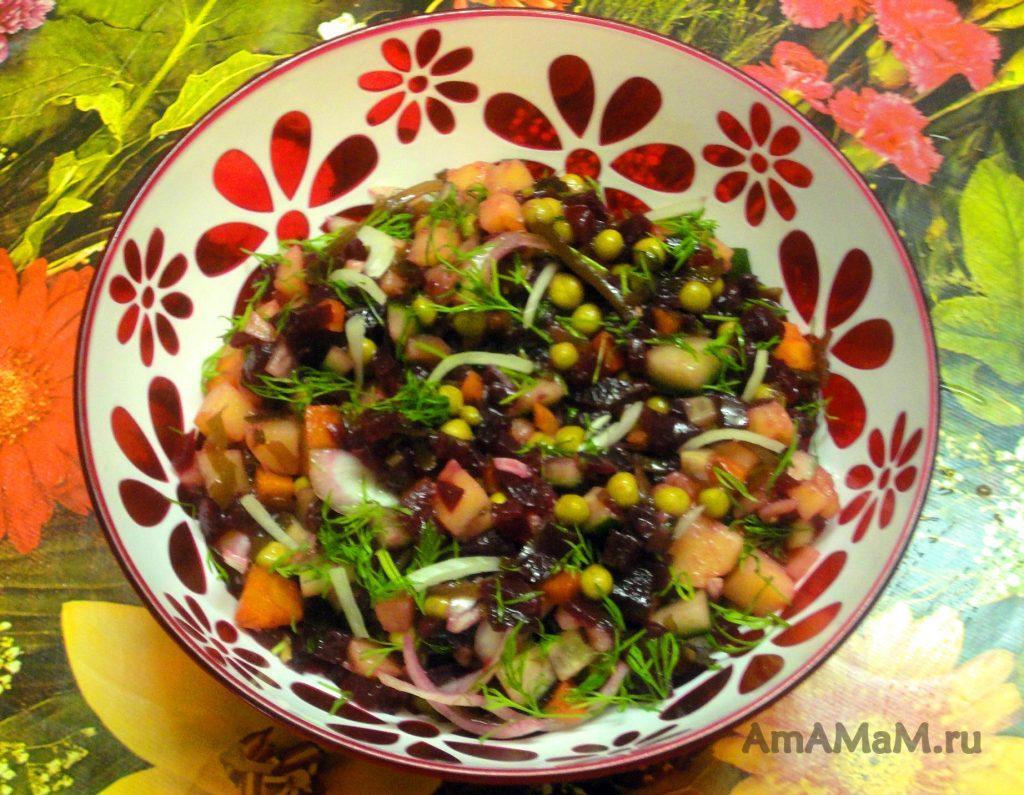 Салат с морской капустой - рецепт винегрета