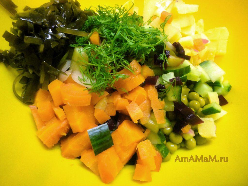 Из чего готовить винегрет с морсокй капустой без огурцов соленых и без квашеной капусты