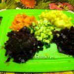 Нарезка винегрета из морской кпуты - рецепт и фото салата