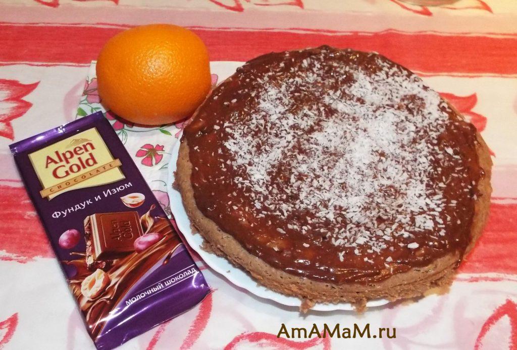 Шоколадный пирог - рецепт приготовления