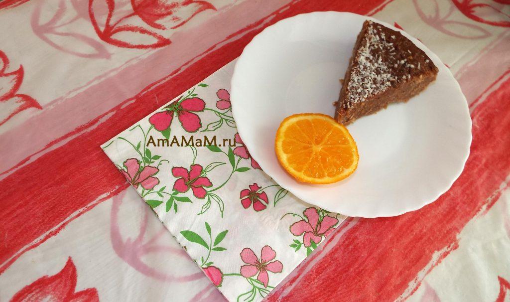 Пирог молочный с шоколадом - рецепт и фото