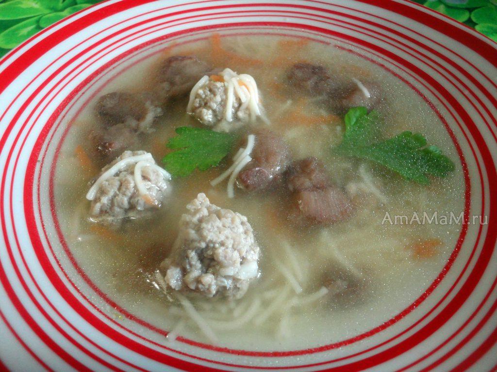 Простой рецепт супа из фрикаделек с грибами и вермишелью - рецепт и фото
