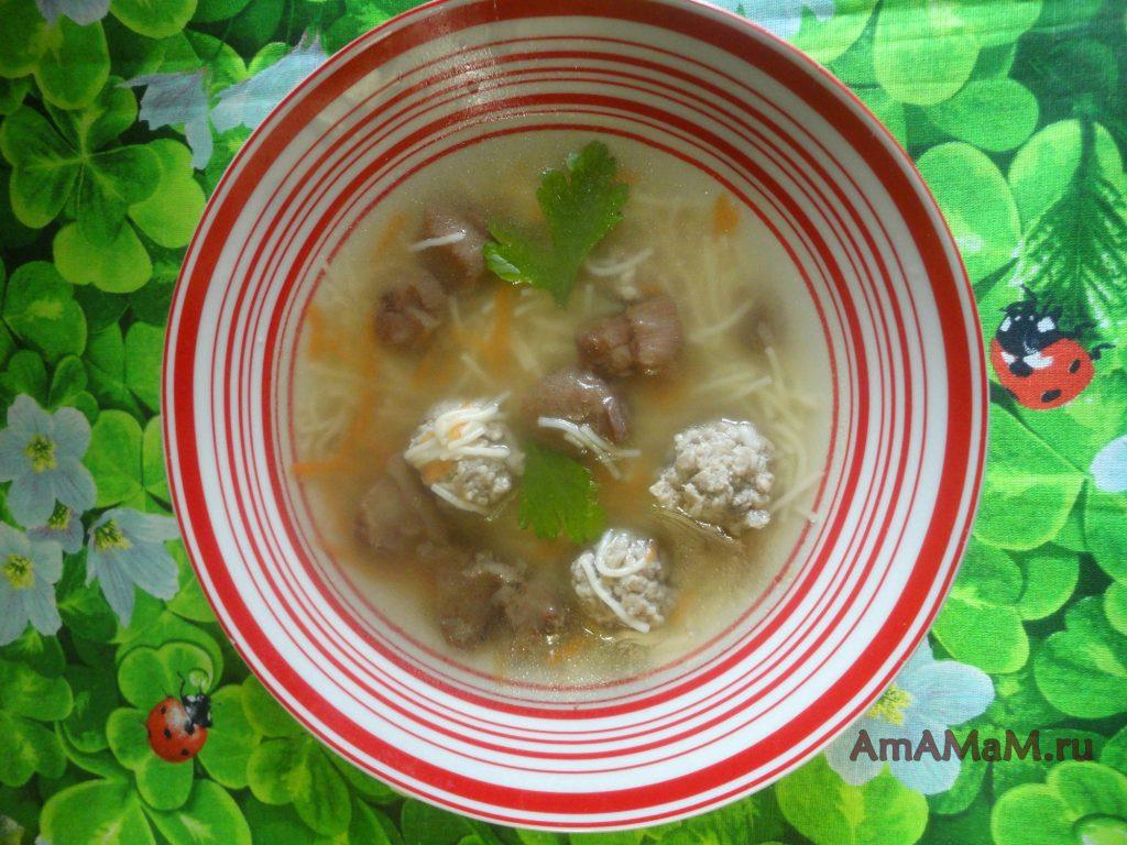 Грибной суп из маслят - рецептс фрикадельками и вермишелью