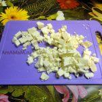 Нарезанный кубиками адыгейский сыр - фото и рецепт салата