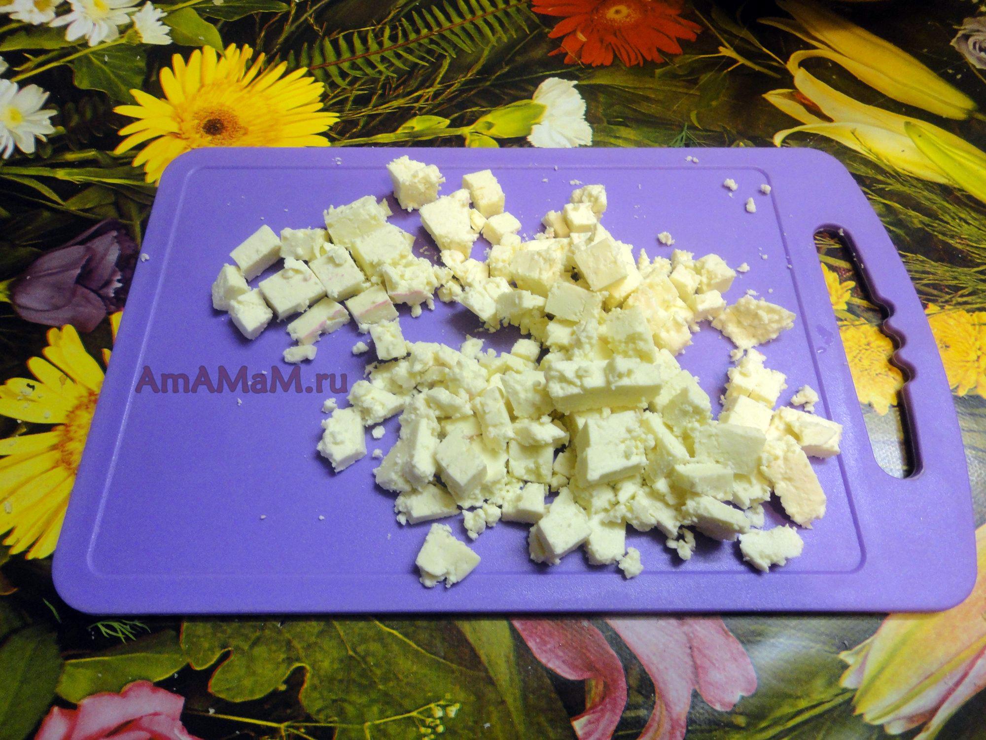 рецепт салата из свеклы с сыром и орехами
