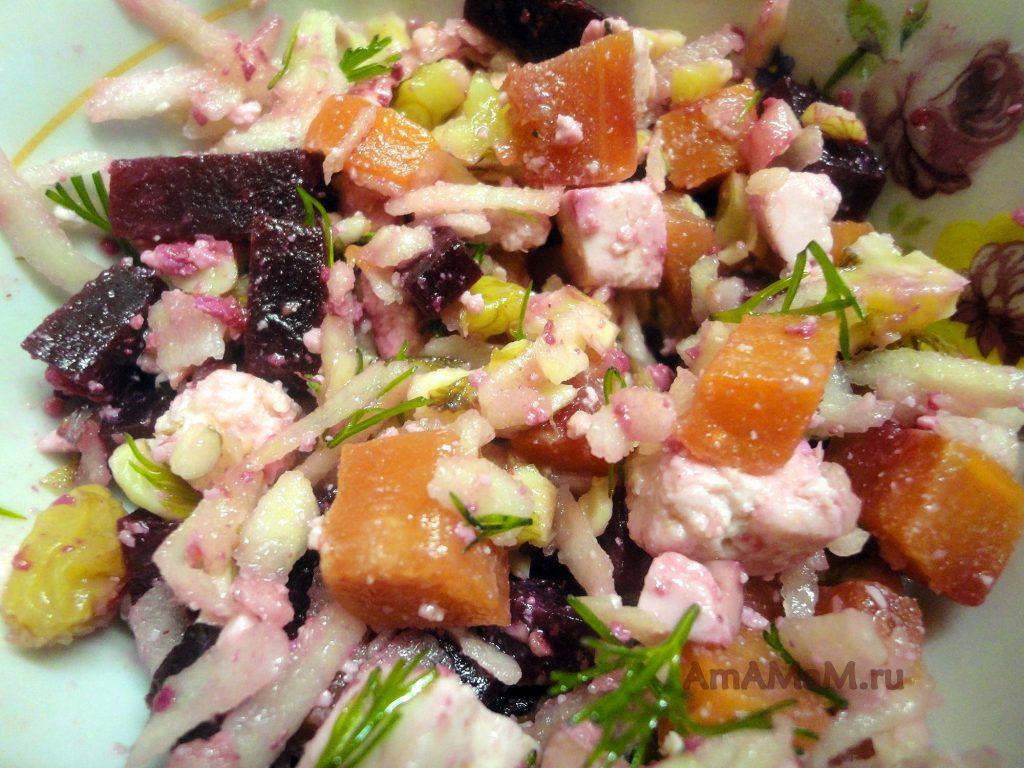 Из чего делают салаты с адыгейским сыром - рецепт с пошаговыми фото
