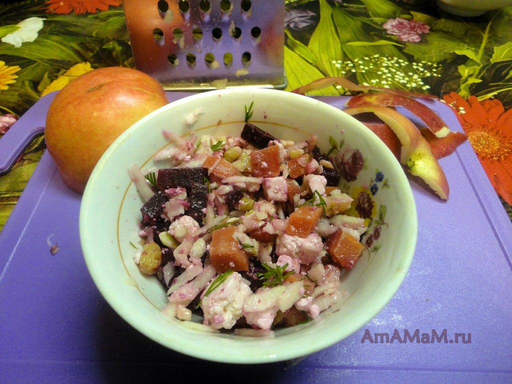 Блюда с адыгейским сыром - рецепт салата