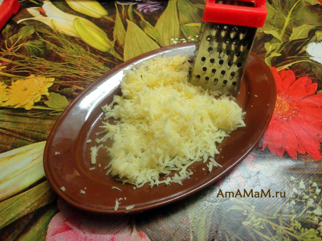 Сыр на мелкой терке - фото